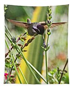 Hummingbird  With Blue Throat Tapestry