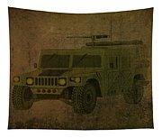 Humvee Midnight Desert  Tapestry