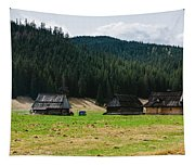 Huts In The Hills Tapestry