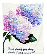 Hydranga Poem Tapestry