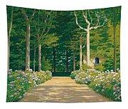 Hydrangeas On A Garden Path Tapestry