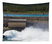 Hydro Power Station Dam Open Gate Spillway Water Tapestry