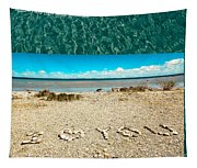 I Heart You Shores Of Lake Michigan Tapestry