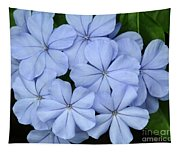 I Love Blue Flowers Tapestry
