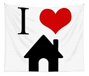 I Love Home Tapestry