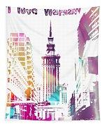 I Love Warsaw Tapestry