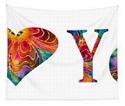 I Love You 17 - Heart Hearts Romantic Art Tapestry