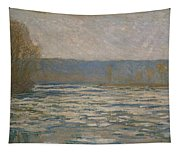 Ice Breaking Up On The Seine Tapestry