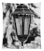 Ice Covered Lantern Tapestry