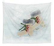 Ice Skates Tapestry