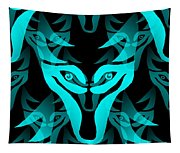 Ice Wolf Tapestry