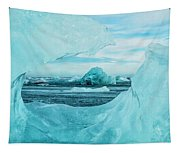 Icebergs On The Southern Beach Tapestry