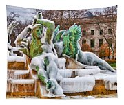 Iced Swann Fountain Tapestry