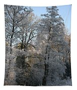Iced Trees Tapestry