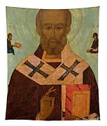 Icon Of St. Nicholas Tapestry
