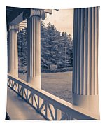 Iconic Columns On An Estate Tapestry