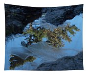 Icy Evergreen Reflection Tapestry