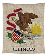 Illinois State Flag Tapestry by Pixel Chimp