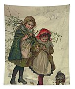 Illustration From Christmas Tree Fairy, Pub. 1886 Tapestry by Lizzie Mack