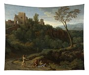 Imaginary Landscape With Buildings In Tivoli Tapestry