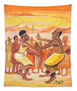 Imbiyino Dance From Rwanda Tapestry
