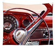 Red Belair With Dice Tapestry
