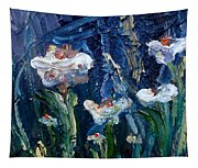 Impasto Daisies Tapestry