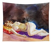 Impressionism Of Reclining Nude Tapestry