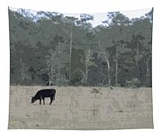 Impressionist Cows Grazing Tapestry