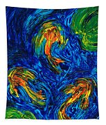 Impressionist Koi Fish By Sharon Cummings Tapestry