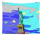 Impressionist Statue Of Liberty Tapestry
