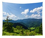 Impressions Of Mountains And Forests And Trees Tapestry