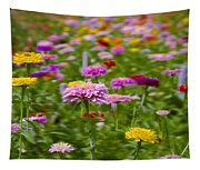 In A Field Of Flowers Tapestry