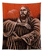 In The Arms Of Christ Tapestry