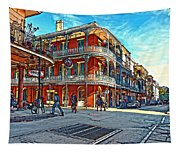 In The French Quarter Painted Tapestry