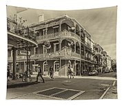 In The French Quarter Sepia Tapestry