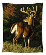 Whitetail Buck - Indecision Tapestry