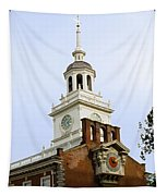 Independence Hall Clocks Tapestry