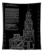Independence Hall Transverse Section - Philadelphia Tapestry