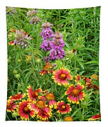 Indian Blankets And Lemon Horsemint Tapestry