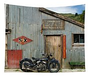 Indian Chout At The Old Okains Bay Garage 1 Tapestry