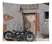 Indian Chout At The Old Okains Bay Garage 3 Tapestry