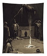 Indian Fire God. The Going Of The Medicine-horse Tapestry