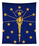 Indiana State Flag Tapestry by Pixel Chimp