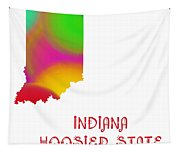 Indiana State Map Collection 2 Tapestry