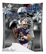 Indianapolis Colts Christmas Card Tapestry
