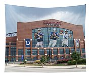 Indianapolis Colts Lucas Oil Stadium Tapestry