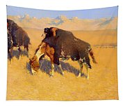 Indians Simulating Buffalo Tapestry