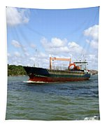Industrial Cargo Ship Tapestry