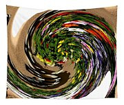 Infinity Flower Spiral 1 Tapestry